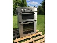 Indesist Electric built in double oven. FID20 IX