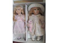Leonardo Porcelain twin dolls. 500mm