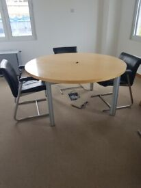 Light maple breakout office/meeting/boardroom/conference table wood finish