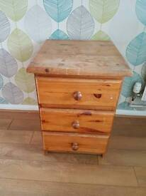 Solid pine x 1 bedside table - ideal shabby chic project