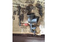 Vintage old mincemeat grinder