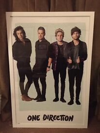 Large One Direction Framed Picture.