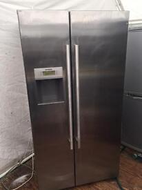 Ex-catalogue Siemens stainless steel good looking frost free A-class American style fridge freezer