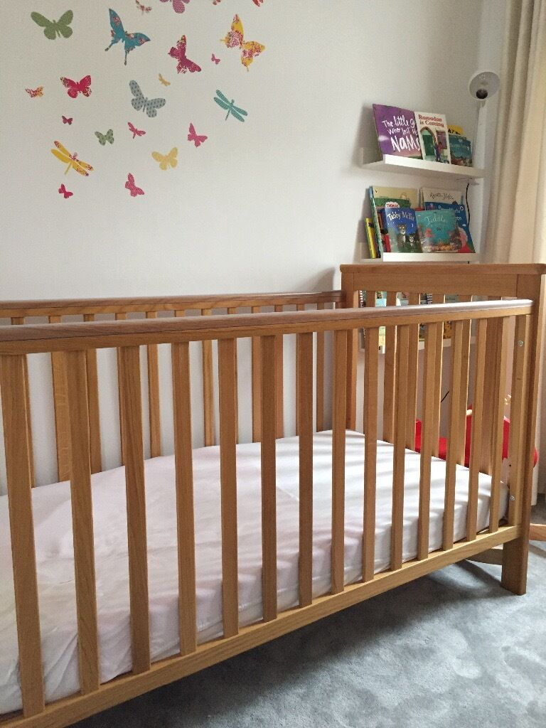 John Lewis Cotbed and Mattress for sale200 o.n.o (collection onlyin Harrow, LondonGumtree - John Lewis Lasko Cotbed and Matress for sale £200 o.n.o. (collection only) Oak cot that converts easily into a junior bed. The cotbed is in excellent condition. Item description can be found on John Lewis website search for Lasko Oak Cotbed Cost of...
