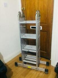 16 step folding ladder with plate
