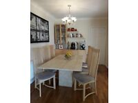 MUST SEE MARBLE DINING TABLE AND MATCHING FURNITURE ITEMS