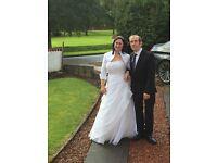 White wedding dress 14/16