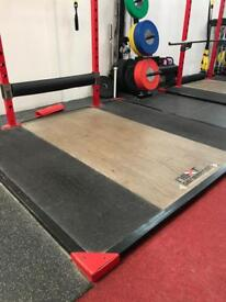 Olympic weightlifting platforms