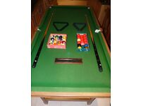 6 ft Riley Snooker table with folding legs