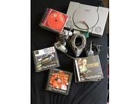 Playstation1 with 14 games, memory cards and controller