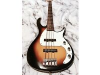 Peavey milestone 3 Bass Guitar. Dual single coil pickups with individual control.