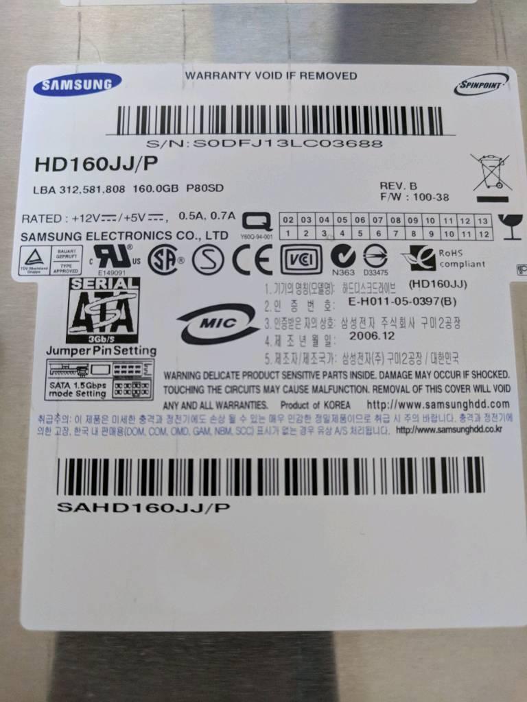 "160gb Samsung 3.5"" PC sata HDD"