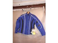 RS ALANA LADIES BLUE TEXTILE MOTORCYCLE JACKET (153)