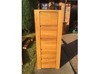Oak tall boy drawer set