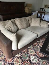 3 and 2 seater faux leather sofa