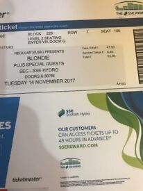 2 good seats for the Blondie Concert Tonight at SSE Hydro