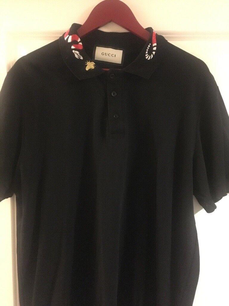 bc05b4944193 Gucci Mens Polo T-Shirt - Black - Size XXL - Fits Tight - Never Worn ...