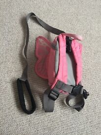 Little life pink butterfly back pack / reins