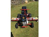 Ride on lawnmower triple cylinder