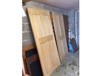 x 2 Oak Doors 4 Panel