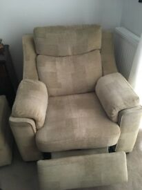 3 piece sofa with footstool