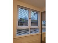 Two Quality White Wooden Venetian Blinds