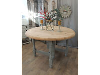 Shabby chic drop leaf dining table by Eclectivo