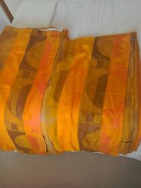 Genuine retro orange curtains 3pairs