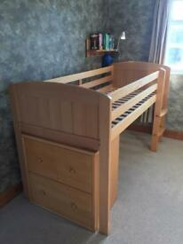 Children's Aspace cabin bed and chest of drawers