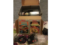 atari 7800 with 2 games boxed working
