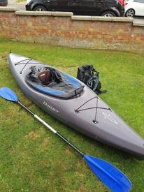 Dagger fiesta, typhoon life jacket, Windermere spray deck ,tnp paddle , great condition