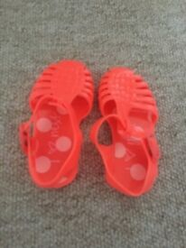 Next jelly shoes girls size 4