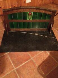 Antique Art Nouveau Wash Stand Top