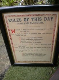 RULES OF THE DAY POSTER FRAMED 36X30 INCHES
