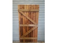 Wooden Feather edge Bespoke Gate Garden Timber Door Made To Measure Gates