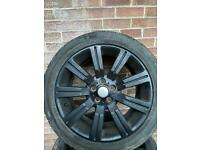 Range Rover 20inch black alloys with tyres