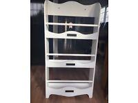 White Vertbaudet Children's Bookcase With 3 Levels H110cm; W55cm; D15cm