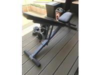 Workout bench and dumbell set
