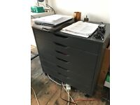 Drawer unit on castors ikea ALEX, Grey, Plan Chest, office storage, filing cabinet
