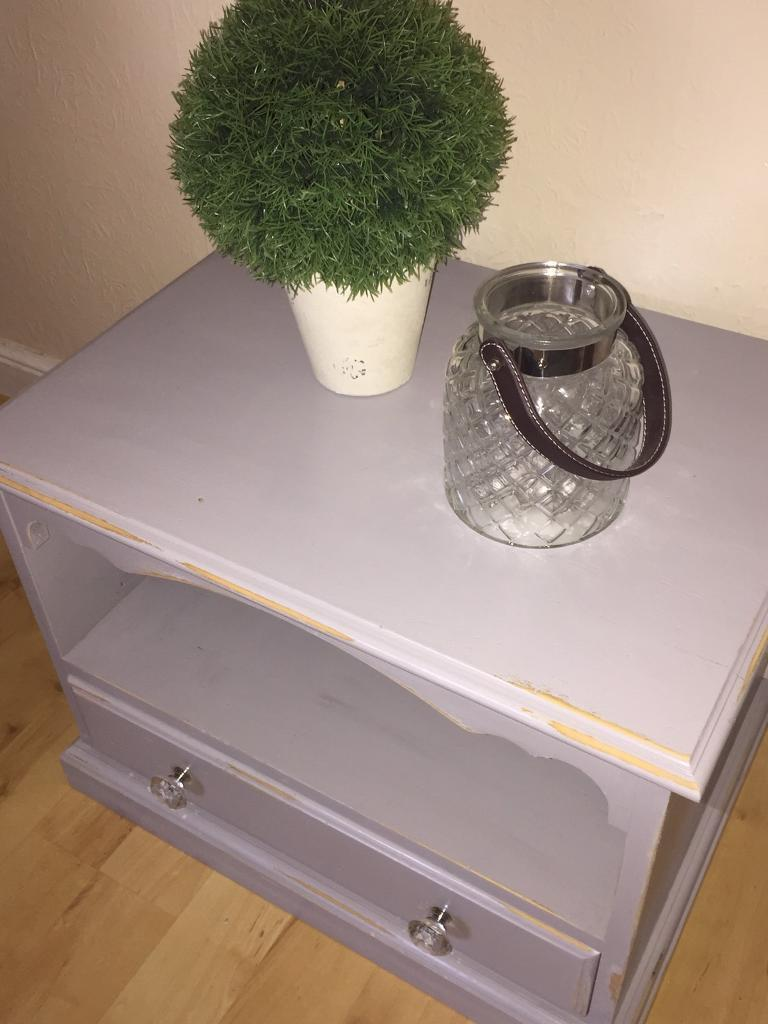 Shabby chic grey tv stand/cupboard