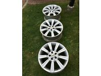 "3 X Genuine Land Rover Range Rover Alloy Wheels 20"""