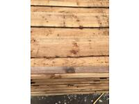 🃏Brown Wayneylap Fence Panels > Excellent Quality < Pressure Treated > New