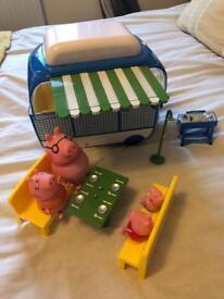 Peppa pig camping caravan set