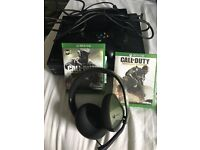 Xbox one for sale with one controller,2 games and a heatset