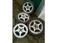 "Enkei 15"" 4x100 alloy wheels"