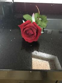 Four Brand new artificial red roses