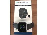 Black Fitbit Blaze fitness watch