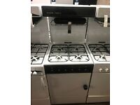 55CM WHITE BROWN EYE LEVEL GAS COOKER