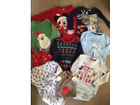 Christmas clothes bundle 6-9 9-12 months