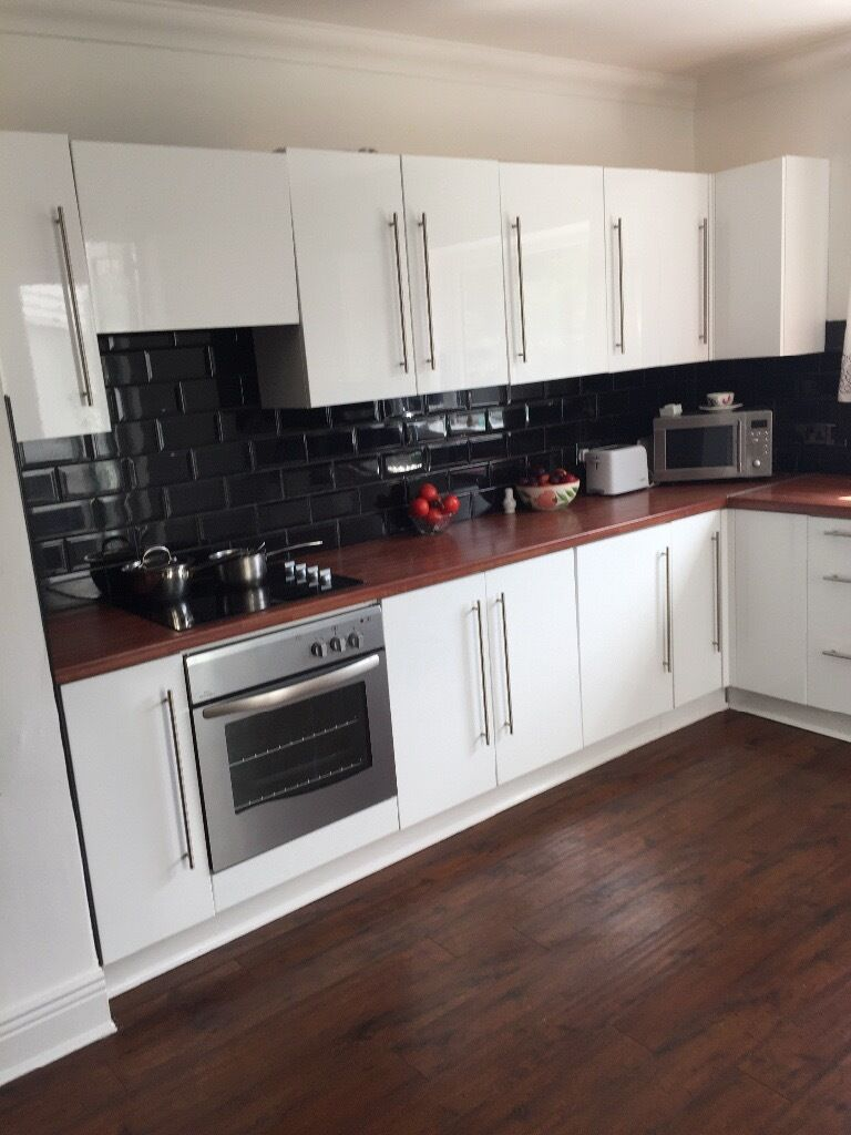 White High Gloss Kitchen Units A Range Of Wall And Base For In